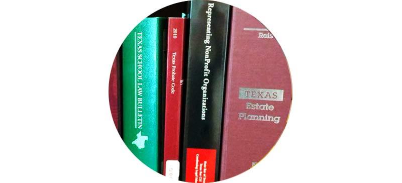 closeup of law books